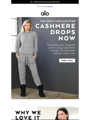 Alo Yoga - 😍 NEW & ULTRA-ULTRA LUXE DROP! CASHMERE! 🥰