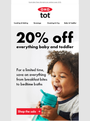 OXO - Save 20% on all OXO Tot products