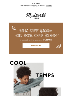 Madewell - Anyone else feeling chilly?