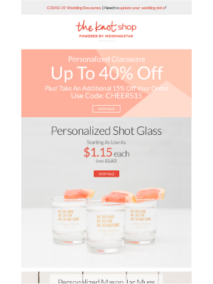 Last Chance! Shop Personalized Glassware Up To 40% Off