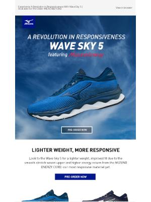 Mizuno Running - Pre-Order Now! Introducing The All-New Wave Sky 5   Enjoy Free Shipping on MizunoUSA.com + The Official App