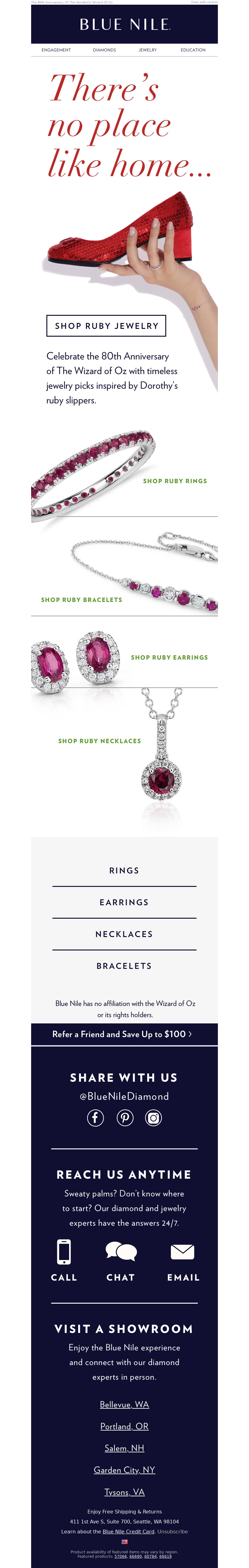 jewelry email example