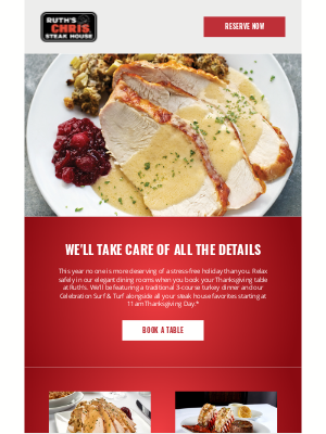 Ruth's Chris - Make This a Memorable Thanksgiving