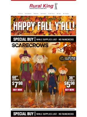 Rural King Supply - 🍂 Happy Fall Y'all!