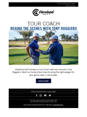 Roger Cleveland Golf Company Inc - Welcome to Tour Coach with Tony Ruggiero