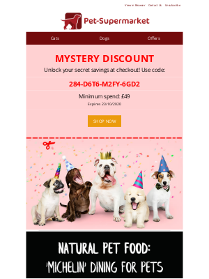 Pet-Supermarket (UK) - Reveal your mystery discount 🎁