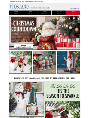 Design Toscano - 🎅 We'll rock your Christmas socks off with great gifts!