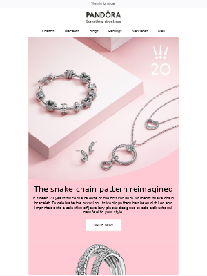 Pandora Jewelry (UK) - New snake chain-inspired styles 🐍