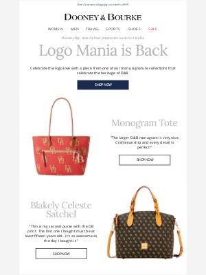 Dooney & Bourke - Logo Mania is Back.