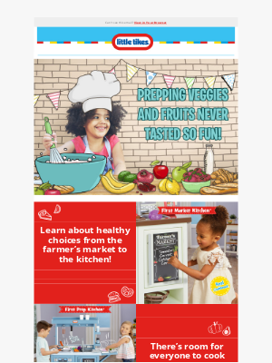 Little Tikes - Serve up some healthy habits for the new year!