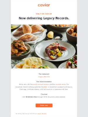 Legacy Records is now only on Caviar