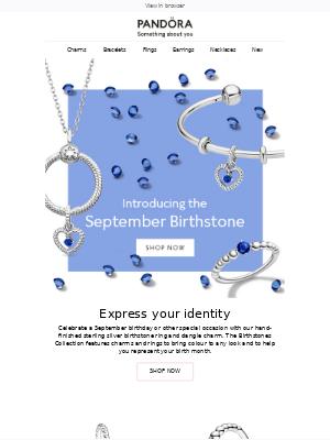 Pandora Jewelry (UK) - Introducing the September Birthstone