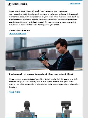 Sennheiser Electronic GMBH & Co. - Sennheiser - New MKE 200 Directional on-camera microphone