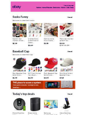 eBay - Socks Funny and Baseball Cap: see our recommendations!