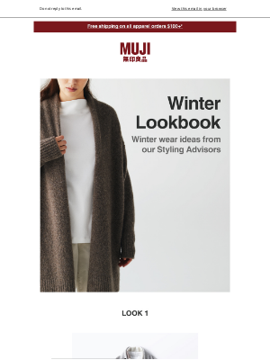 MUJI - Check out the 20AW Winter Lookbook
