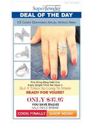 SuperJeweler - Finally! Amazing Diamond Wing Ring.