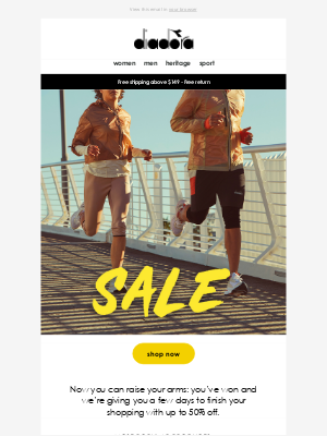 Diadora - We're on the home stretch, hurry before the sale ends!