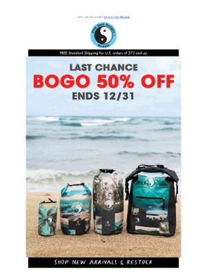 T&C Surf - LAST CHANCE! BOGO 50% Off Ends 12/31!