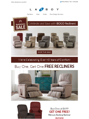 BOGO Recliners at $699? Oh Yes! 🎉