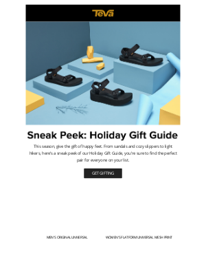 Teva - Gifts they'll love