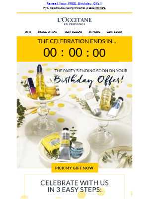 Willie, Time's Running Out On Your FREE Birthday Gift!