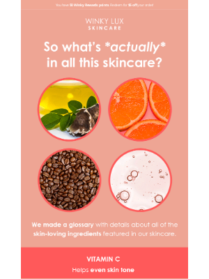 Winky Lux - Skincare ingredients: explained
