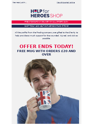 Help For Heroes - Be quick, offer ends today!