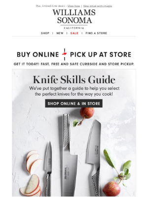 Williams Sonoma - Knife skills guide: Top picks & quick tips