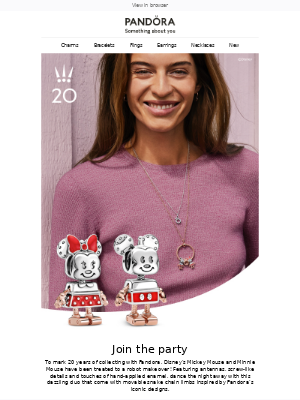 Pandora Jewelry (UK) - Celebrate with Disney x Pandora
