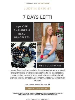 🧘♀️One Week Left! 25% Off All Shaligram Bracelets!🧘♀️