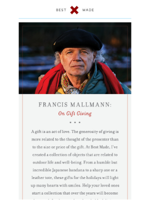 Francis Mallmann On Gift Giving