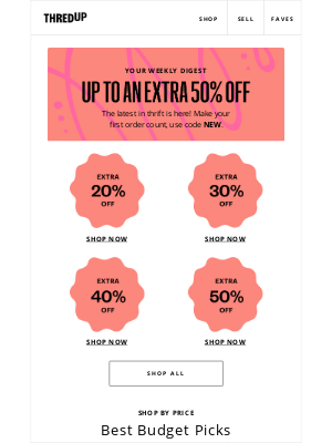 thredUP - Your 50% off code is gonna love this.