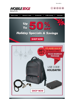 Mobile Edge - Holiday Specials