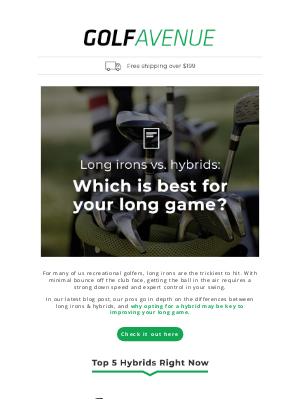 Golf Avenue (CA) - Hybrids to the rescue!