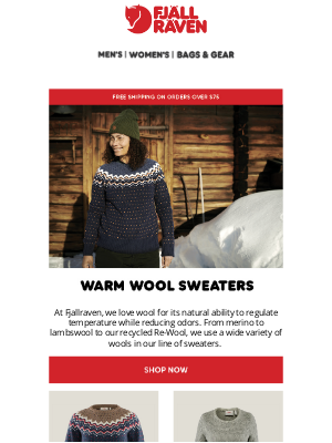 Fjällräven - Wool Sweaters To Keep You Warm and Cozy