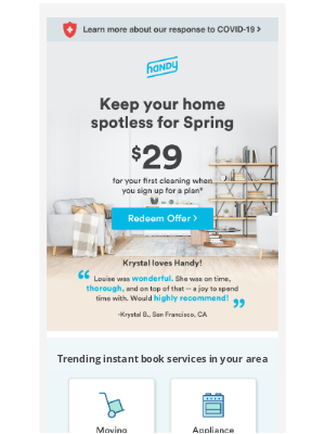 Get A Jump On Spring Cleaning. Sign Up For A Plan Today!