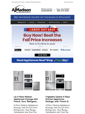AJ Madison - Save now during our Labor Day Sale + Beat the fall price increases!