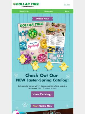 Dollar Tree - Adolfo, Peep Our NEW Easter-Spring Catalog!