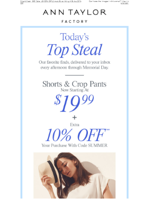 Today's Top Steal: Shorts & Crop Pants Starting At $19.99