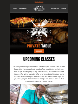 Traeger Grills - Get Thanksgiving-Ready with Shop Class: Private Table