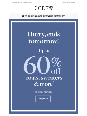 J.Crew Factory - Get up to 60% off coats, sweaters & more