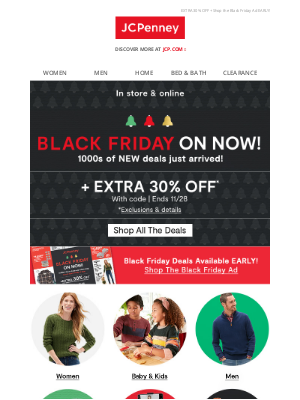 JCPenney - 🔔 Black Friday ON NOW w/ NEW deals