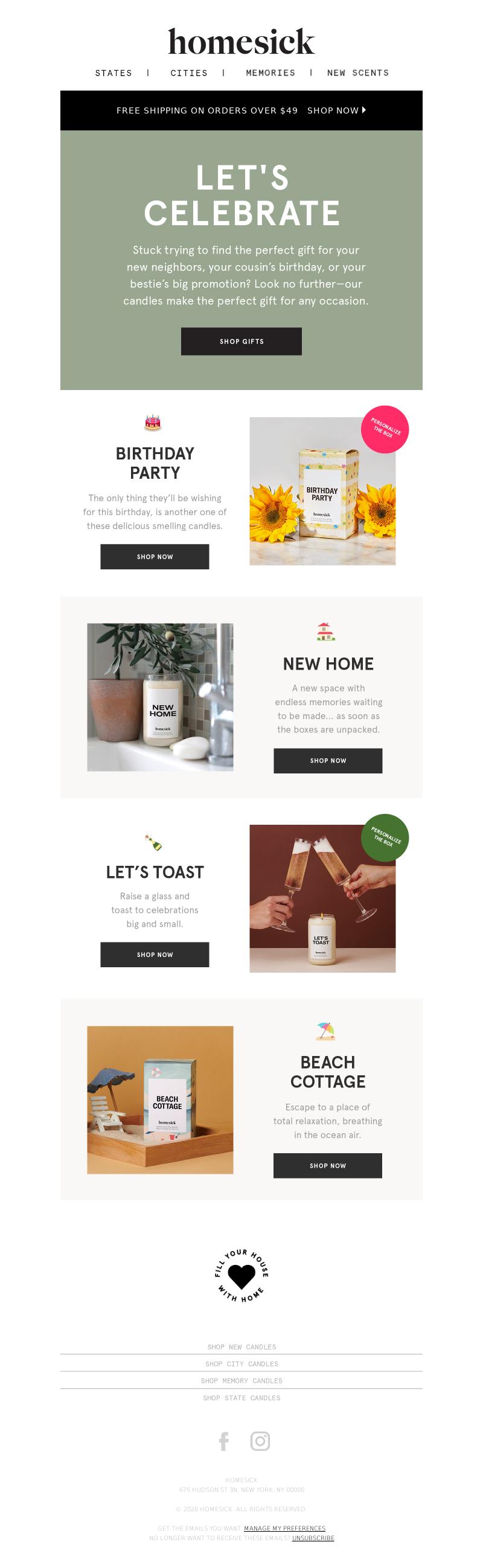 Homesick Candles - We make gift giving easy 🎁