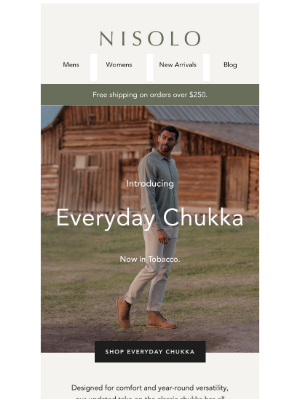 Nisolo - New Arrivals: Everyday Chukka & Oxford