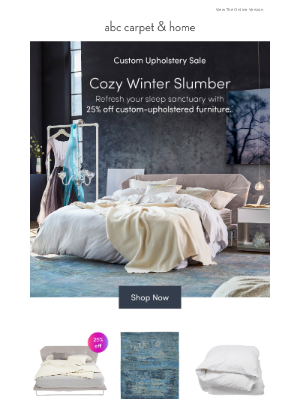 ABC Carpet & Home - your winter bedroom is here (and it's 25% off)