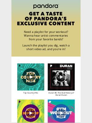 Pandora Radio - Exclusive content is calling!