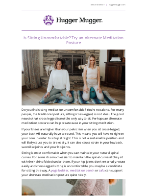 Hugger Mugger - Is Sitting Uncomfortable? Try an Alternate Meditation Posture