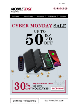 Mobile Edge - Cyber Monday! Tech, Gadgets and Gear Await