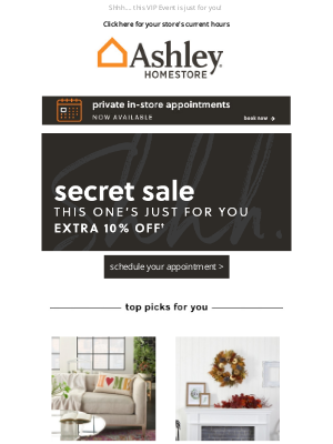 Ashley Furniture HomeStore - 🤗 We're so excited! Can you keep a secret?