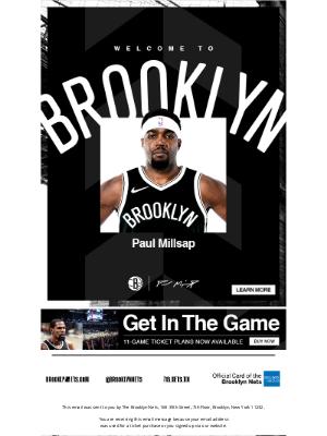 Brooklyn Nets - Welcome Paul Millsap